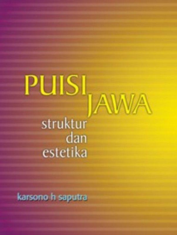 Cover Buku Puisi Jawa Struktur dan Estetika