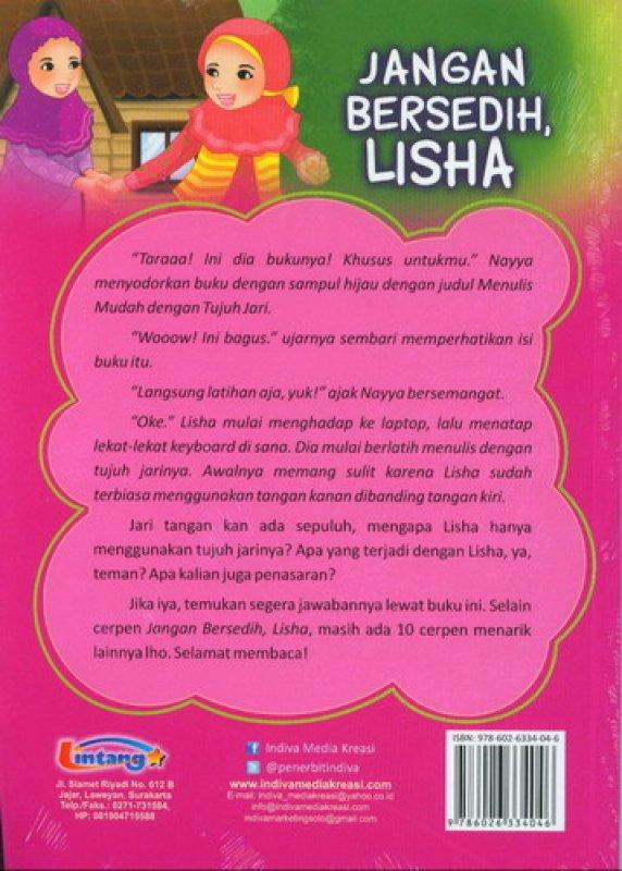 Cover Belakang Buku Jangan Bersedih Lisha