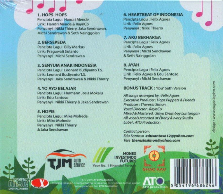 Cover Belakang Buku Hops Puppet and Friends - Anak Indonesia [CD]
