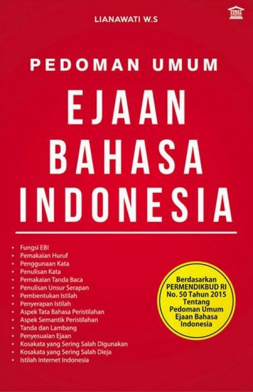 Cover Buku Pedoman Umum Ejaan Bahasa Indonesia