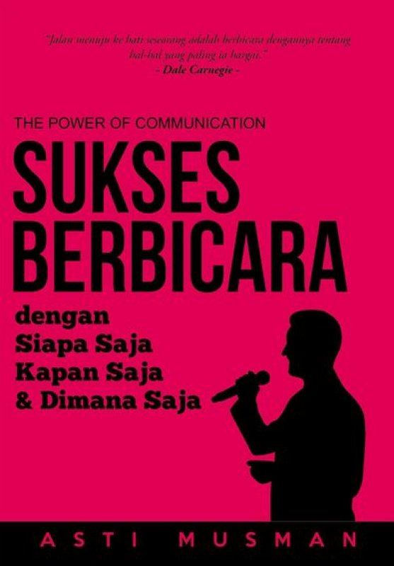 Cover Buku Sukses Berbicara dengan Siapa Saja Kapan Saja & Dimana Saja