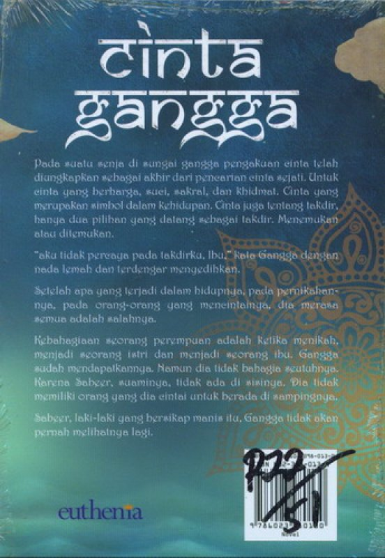 Cover Belakang Buku Cinta Gangga [Novel India]