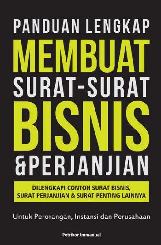 Cover Buku Panduan Lengkap Membuat Surat-Surat Bisnis & Perjanjian