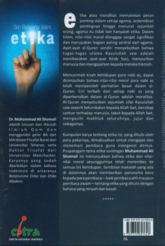 Cover Belakang Buku Seri Referensi Islam Etika