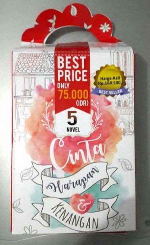 Cover Buku Box Paket 5 Novel Cinta, Harapan & Kenangan