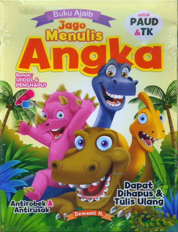 Cover Buku Buku Ajaib Jago Menulis Angka PAUD & TK [Bonus Spidol & Penghapus]