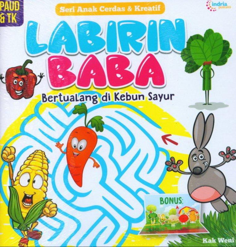 Cover Buku Labirin Baba Bertualang di Kebun Sayur (PAUD & TK)
