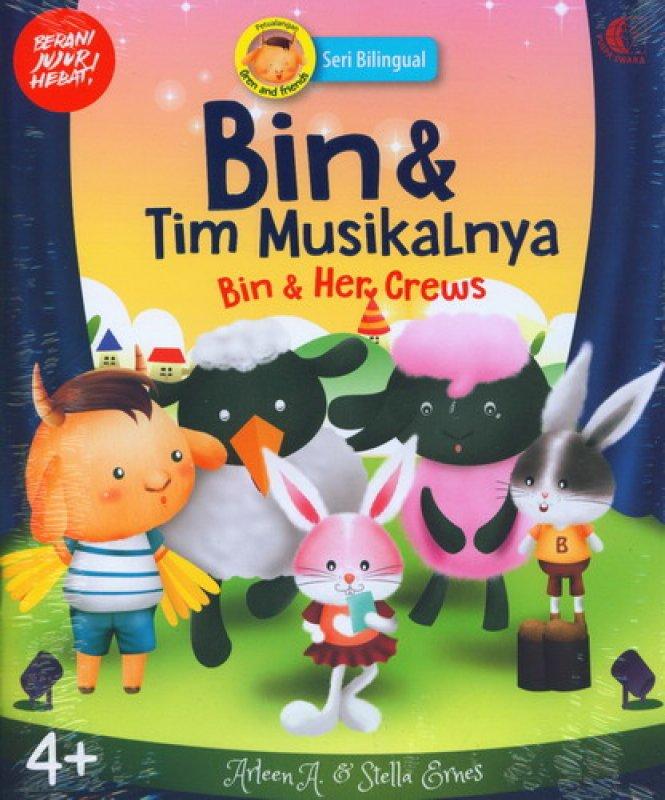 Cover Buku Bin & Tim Musikalnya - Bin & Her Crews [seri bilingual]