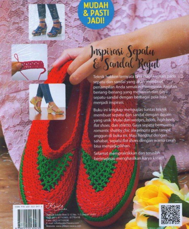 Cover Belakang Buku Inspirasi Sepatu & Sandal Rajut