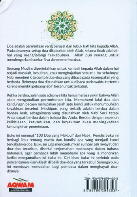 Cover Belakang Buku 100 Doa Mustajab Bersejarah (HC)