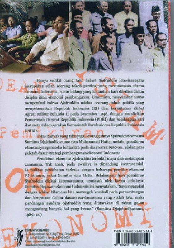 Cover Belakang Buku Sjafruddin Prawiranegara : Biografi Pemikiran Islam Indonesia