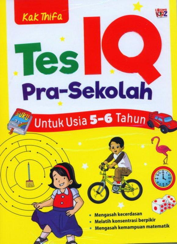 Cover Buku Tes IQ Pra-Sekolah Untuk Usia 5-6 Tahun