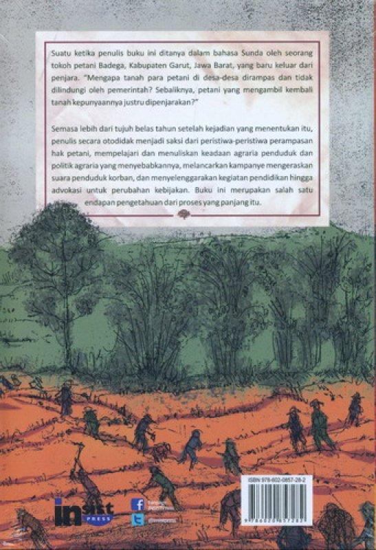 Cover Belakang Buku Bersaksi Untuk Pembaruan Agraria