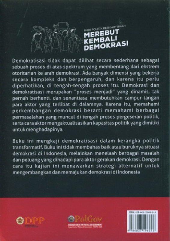 Cover Belakang Buku Blok Politik Kesejahteraan Merebut Kembali Demokrasi