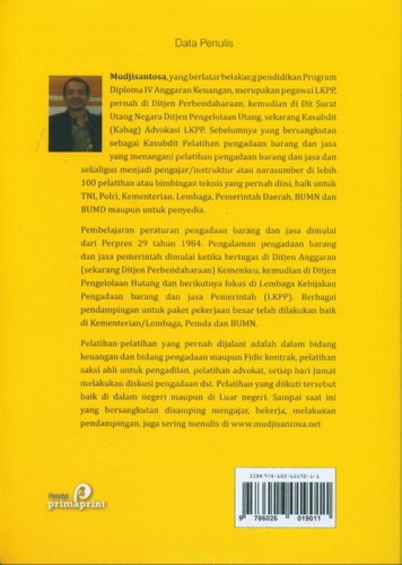 Cover Belakang Buku Kesalahan Pengadaan (Perspektif Hukum)