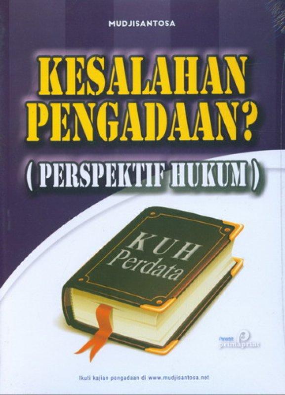 Cover Buku Kesalahan Pengadaan (Perspektif Hukum)